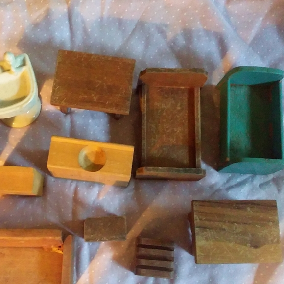 Collection of Vintage Dollhouse Furniture